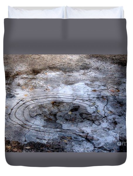 Ice Figures Duvet Cover by Pauli Hyvonen