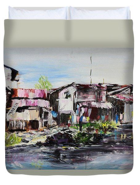 Ilaje Duvet Cover by Ogwah  Uly