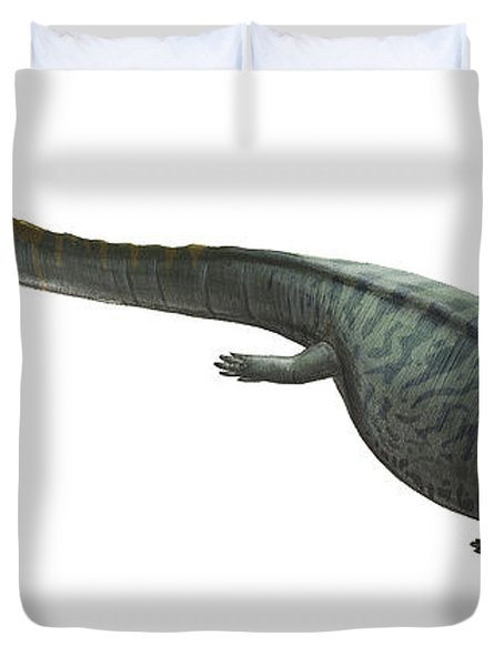 Illustration Of A Prehistoric Era Duvet Cover by Sergey Krasovskiy