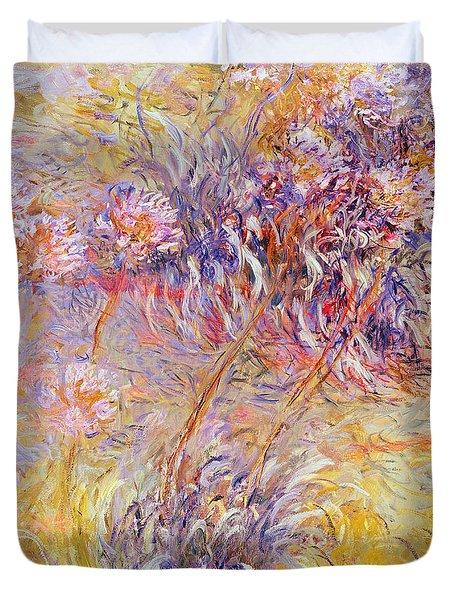 Impression - Flowers Duvet Cover by Claude Monet