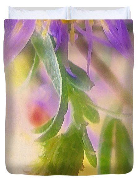 Impression Of Asters Duvet Cover by Judi Bagwell