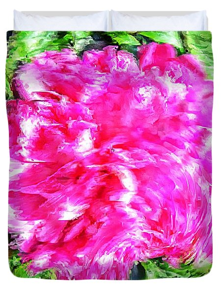 Impressionistic  Peony Duvet Cover by Barbara Griffin