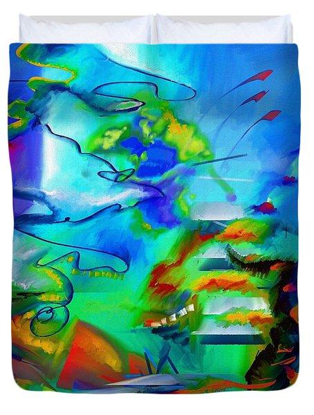 Improvisation Scriabin Piano Works Duvet Cover by Wolfgang Schweizer