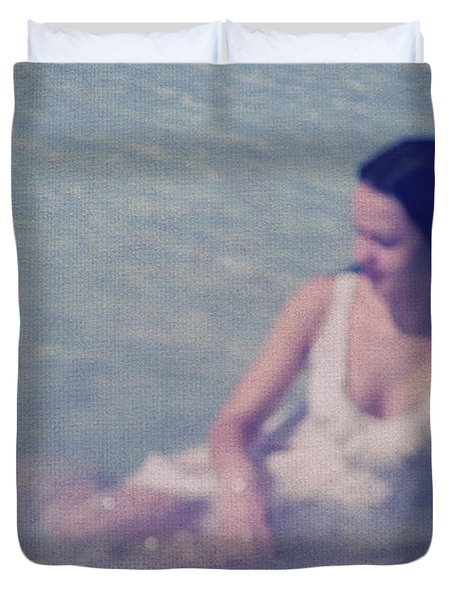 In Blue. Impressionism Duvet Cover by Jenny Rainbow