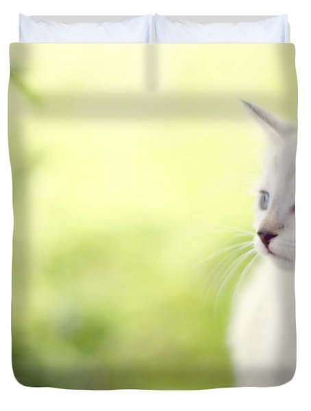 In Her Eyes Duvet Cover by Amy Tyler