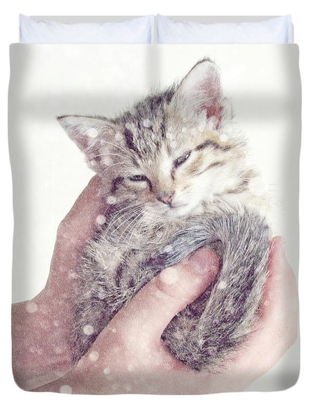 In Safe Hands  Duvet Cover by Amy Tyler