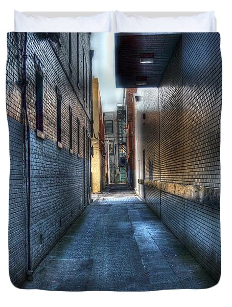 In The Alley Duvet Cover by Dan Stone