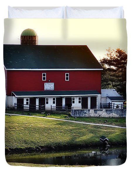In the Barn Yard Duvet Cover by Bill Cannon