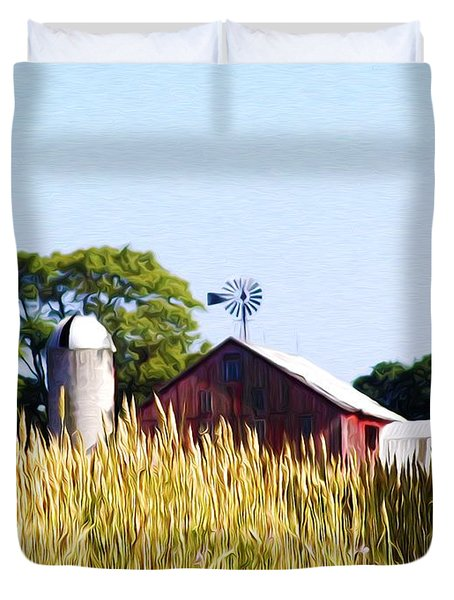 In The Farmers Field Duvet Cover by Bill Cannon