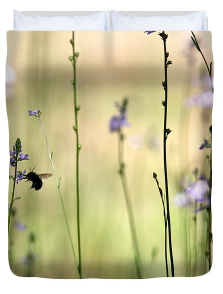 In The Field - Cards Duvet Cover by Travis Truelove