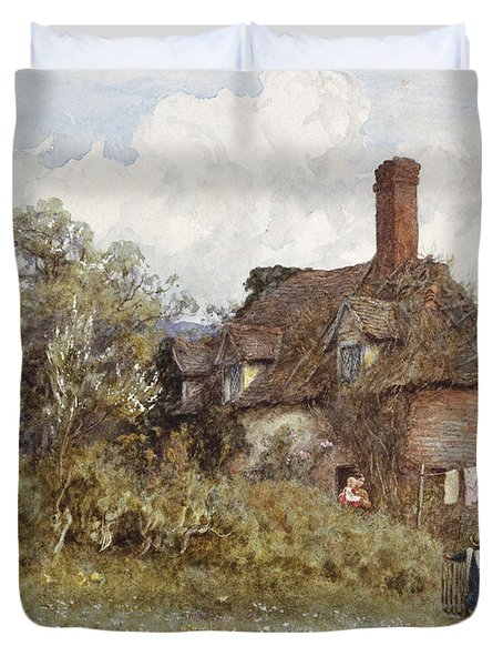 In The Spring Duvet Cover by Helen Allingham