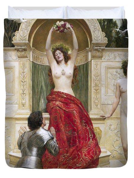 In The Venusburg Duvet Cover by John Collier