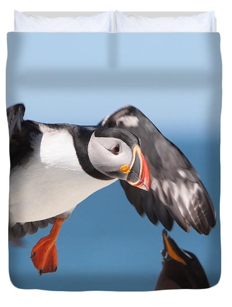 Incoming  Duvet Cover by Bruce J Robinson