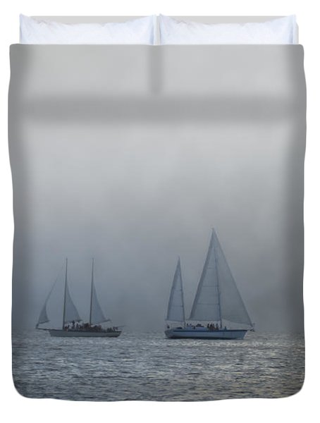 Incoming Fog Bank Duvet Cover by Bill Cannon