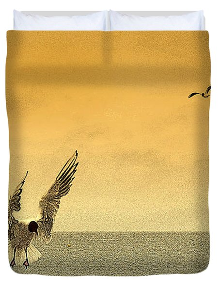 Incoming Duvet Cover by Linsey Williams
