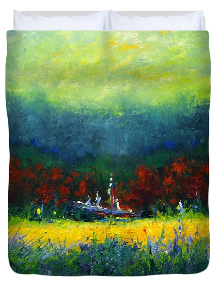 Independence Day Duvet Cover by Shannon Grissom