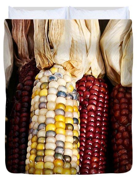 Indian Corn Duvet Cover by Jarrod Erbe
