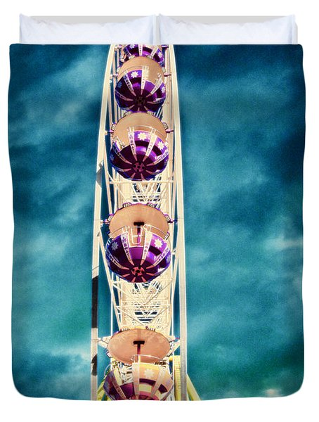 infrared Ferris wheel Duvet Cover by Stylianos Kleanthous