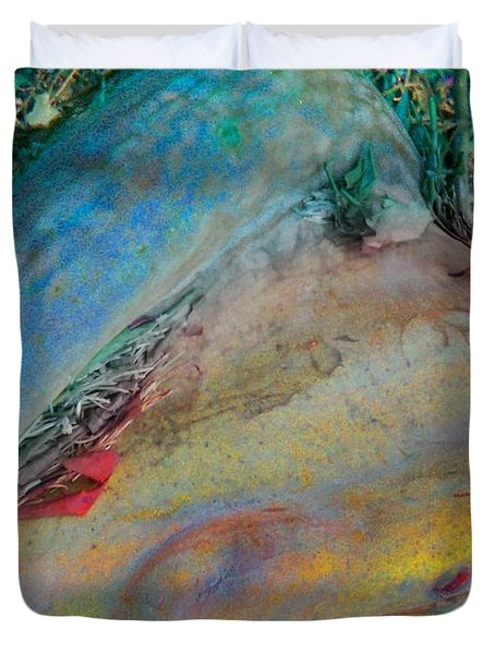 Duvet Cover featuring the digital art Inner Peace by Richard Laeton