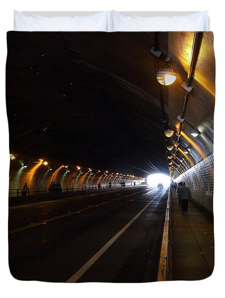 Inside The Stockton Street Tunnel in San Francisco . 7D7363.3 Duvet Cover by Wingsdomain Art and Photography