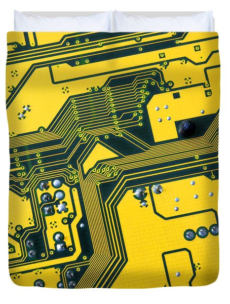 Integrated circuit Duvet Cover by Carlos Caetano