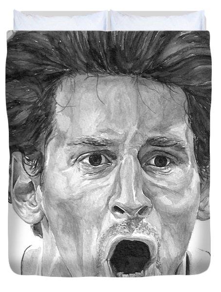 Intensity Lionel Messi Duvet Cover by Tamir Barkan