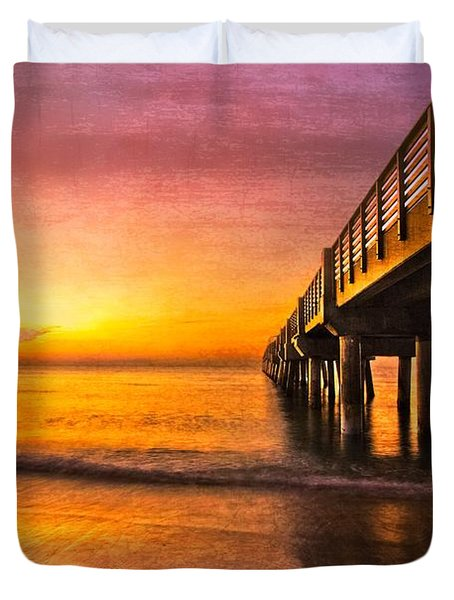 Into The Light Duvet Cover by Debra and Dave Vanderlaan