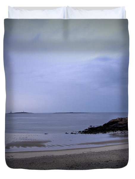 Into The Night In Cape Ann Duvet Cover by Brenda Giasson