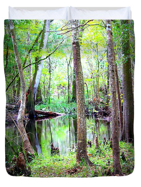 Into The Swamp Duvet Cover by Carol Groenen