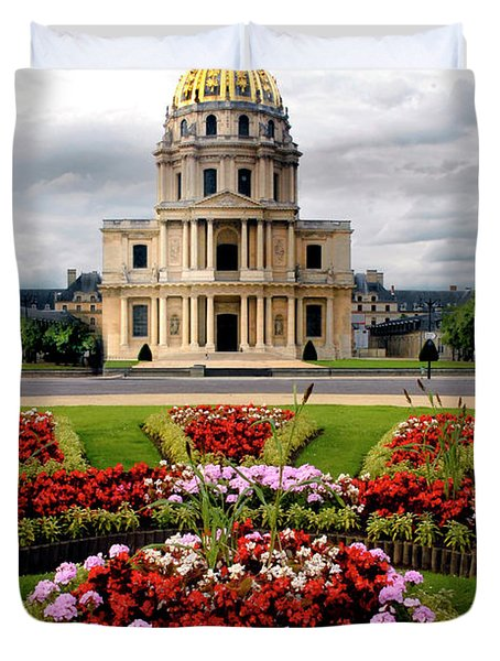Invalides Paris France Duvet Cover by Dave Mills