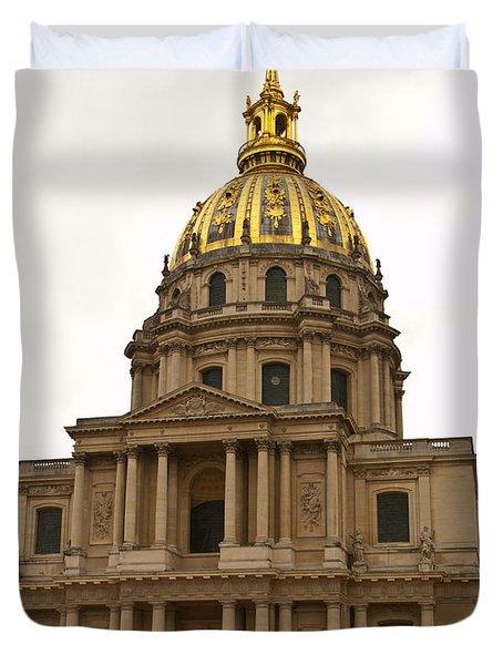 Invalides Paris France Duvet Cover by Jon Berghoff