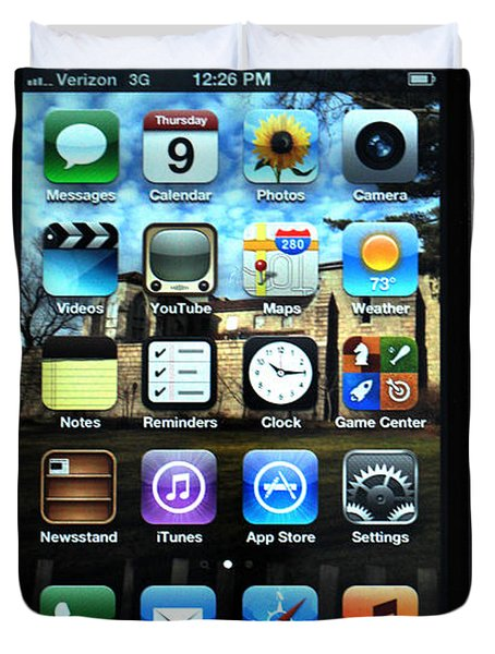 Iphone Duvet Cover by Photo Researchers