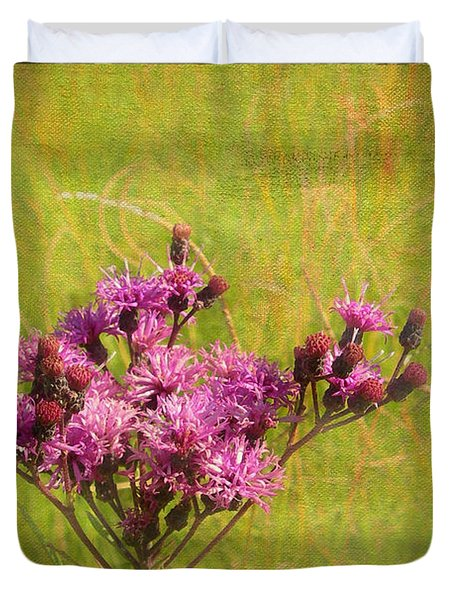 Ironweed in Autumn Duvet Cover by Judi Bagwell