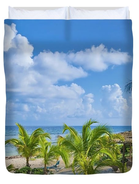 Island Beauty Duvet Cover by Stephen Anderson