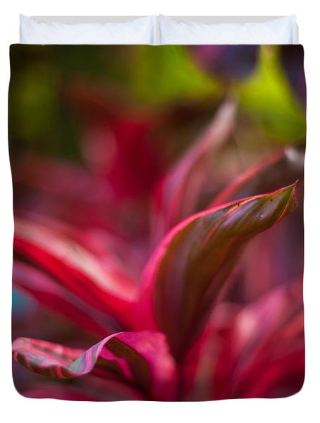 Island Bromeliad Duvet Cover by Mike Reid