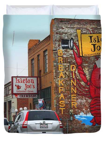 Isleton Joes Restaurant And Saloon In Isleton California Duvet Cover by Wingsdomain Art and Photography