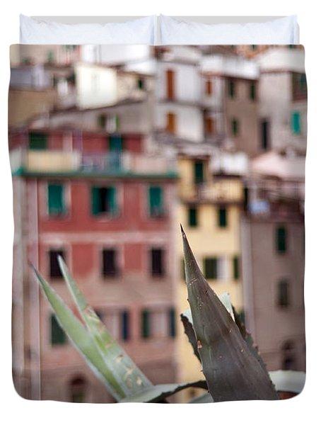 Italian Aloe Duvet Cover by Mike Reid