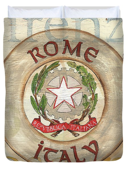 Italian Coat of Arms Duvet Cover by Debbie DeWitt