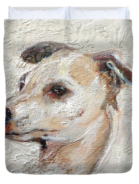 Italian Greyhound Duvet Cover by Enzie Shahmiri