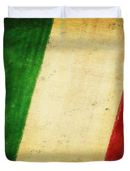 Italy Flag Duvet Cover by Setsiri Silapasuwanchai