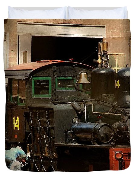 I've Been Working On The Railroad Duvet Cover by RC DeWinter