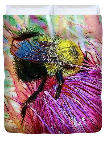 I've Fallen Into A Thistle And I Can't Get Out Duvet Cover by Judi Bagwell