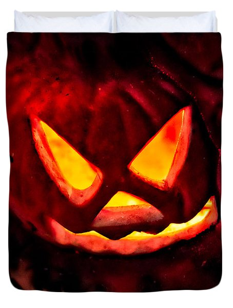 Jack-o-lantern Duvet Cover by Christopher Holmes