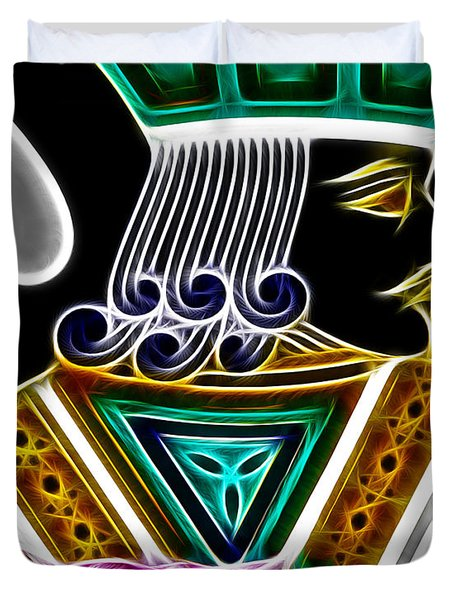 Jack Of Spades - V4 Duvet Cover by Wingsdomain Art and Photography