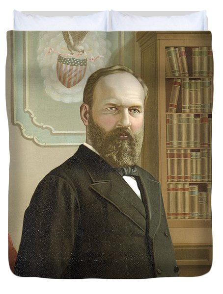 James A. Garfield, 20th American Duvet Cover by Photo Researchers