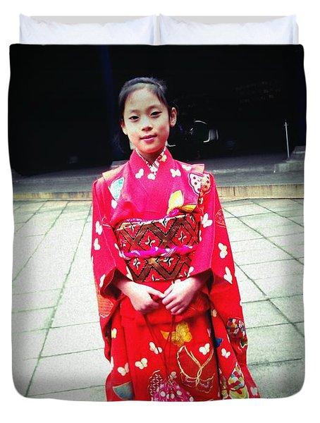 Japanese Girl Duvet Cover by Eena Bo