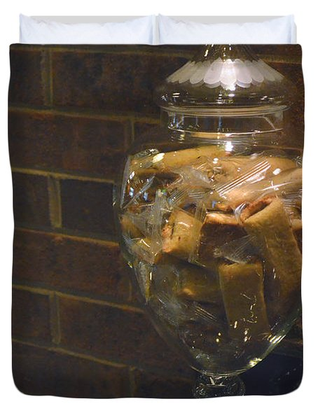 Jar of Biscotti Duvet Cover by Sandi OReilly