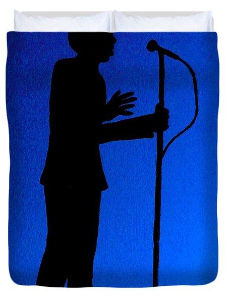 Jazz Singer Duvet Cover by Julie Brugh Riffey