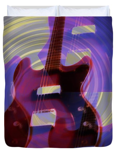 Jet Screamer - Guild Jet Star Duvet Cover by Bill Cannon