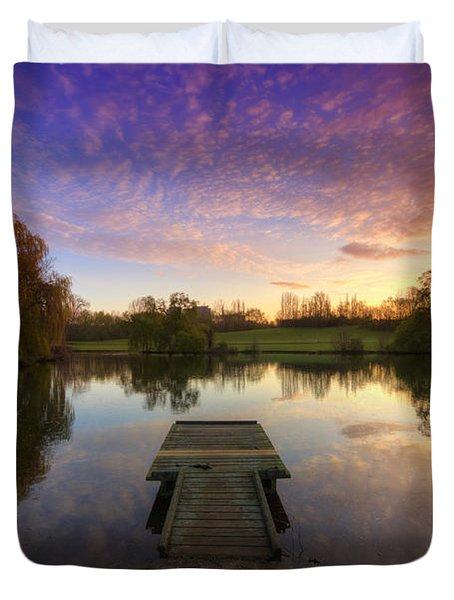 Jetty Sunrise 4.0 Duvet Cover by Yhun Suarez